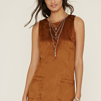 Faux Suede Shift Dress | Forever 21 - 2000156657