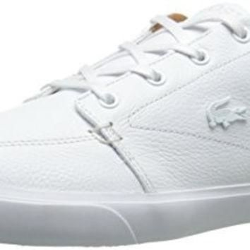 Lacoste Men's BAYLISS VULC PRM Shoe, white/white, 11 M US