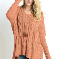 I Just Wanna See You Cable Knit Sweater - Multiple Colors