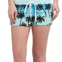 Juicy Couture Chalky Turquoise Ombré Forever Palm Track Shorts - Women | zulily
