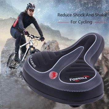 Comfortable Wide Big Bum Bike Bicycle Gel Cruiser Extra Sporty Soft Pad Saddle Seat Suitable For Any Type Of Bike