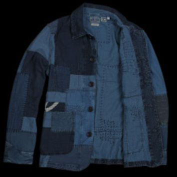 UNIONMADE - BLUE BLUE JAPAN - Guaze Hand Patchwork Coverall Jacket in Indigo