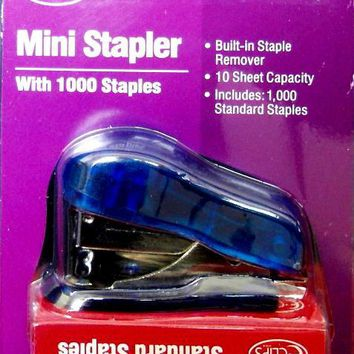 Mini Stapler with 1000 staples set - CASE OF 48