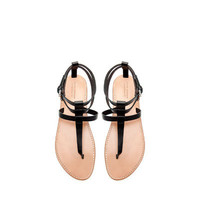 FLAT THONG SANDALS WITH BUCKLE - Shoes - Woman | ZARA United States