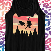 Adventure Time black tanktop for men and women