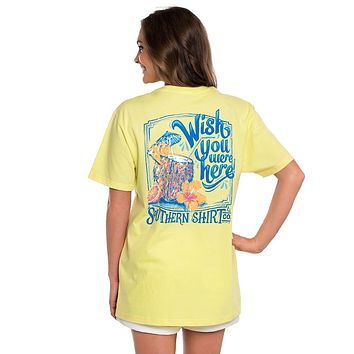 Wish You Were Here SS in Lemon Zest by The Southern Shirt Co..