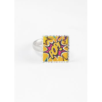 COMIC POP ART SQUARE RING