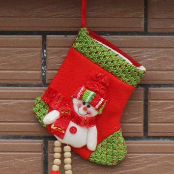 Christmas Decoration Snowman Hanging Candy Present Sock