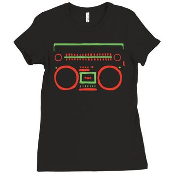 a tribe called quest   speaker hip hop the cutting edge Ladies Fitted T-Shirt