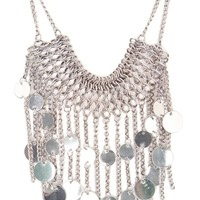 With Love From CA Chain And Coin Fringe Necklace - Womens Jewelry - Silver - One