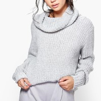Faith Boucle Crop Cowl Neck Jumper | Boohoo