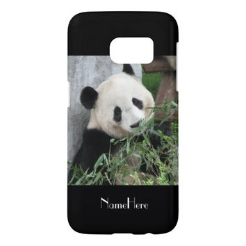 Samsung Galaxy S7 Case Giant Panda Black