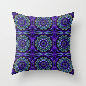 Mandala Crochet Throw Pillow by MoonBrook Expressions