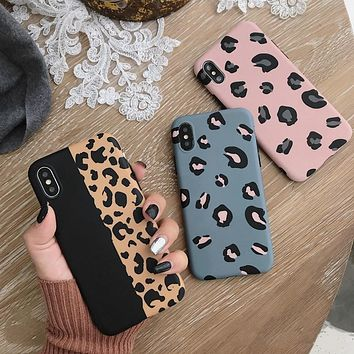 Fashion Leopard Print Phone Case For iphone XS Max XR X Case For iphone 6 6s 7 8 plus Back Cover Luxury Soft Cases Colorful Capa
