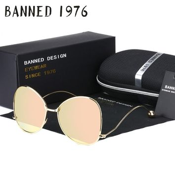 BANNED 1976 HD polarized New arrival Sunglasses cool fashion 2017 brand women driving sun Glasses lady's vintage oculos de sol
