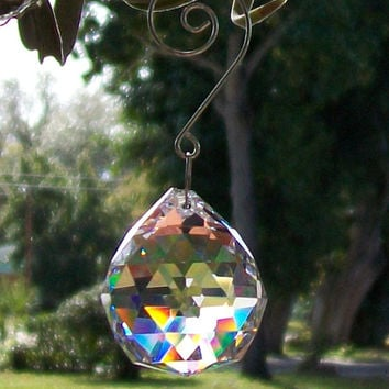 Rainbow Suncatcher, Crystal Sun Catcher, Window Ornament, Hanging Prisms, Light Catcher, Crystal Feng Shui, Chandelier Crystal