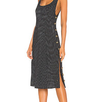 LPA Tank Midi Dress in Ditsy Dots