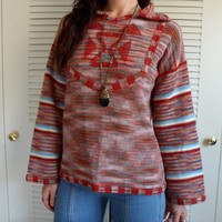 70's Space Dyed Ethnic Pullover Hippie Sweater