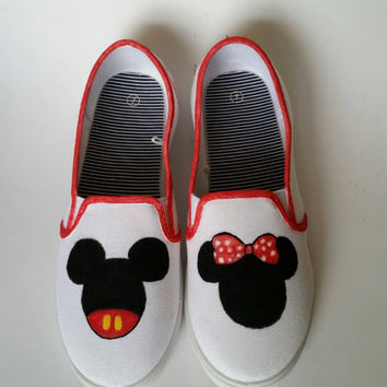 Disney Mickey & Minnie Painted Shoes - Womens