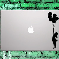 "25% OFF Macbook decals Balloon Girl Banksy sticker - choose your own color for macbook 11"" 13"" 15"" 17"" & laptop"