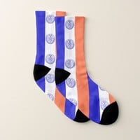 All Over Print Socks with Flag of New York City
