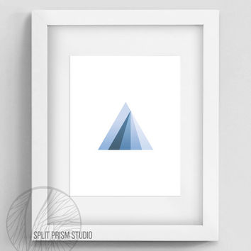 Original Art Print, Instant Download, Print, Art, Digital File, Wall Art, Geometric, Graphic Print, Triangle, Purple Triangle Print, Prism
