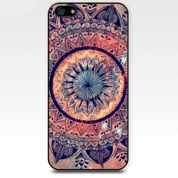 Rainbow Mandara clolorful pink red mandara dream iphone case,ipod case,samsung galaxy case available plastic and rubber case B003