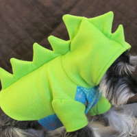 Dinosaur Fleece Dog Costume by playfulpup on Etsy