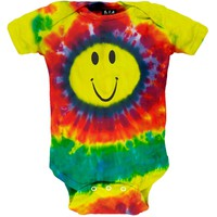 Happy Face - Tie Dye Infant Bodysuit