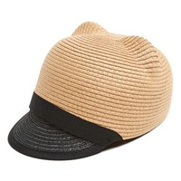 Leith Cat Ear Straw Hat