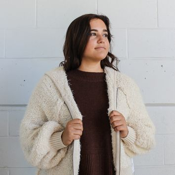 Free People Furry Time Zip Up