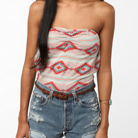 OBEY Southwest Print Strapless Top