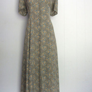 Vintage 1990s Laura Ashley Floral Maxi Dress