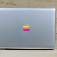 rainbow logo decal macbook pro decals macbook air macbook pro decal vinyls macbook decals sticker Vinyl mac decals Apple Mac Decal