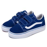 Vans Girls Boys Children Baby Toddler Kids Child Breathable Sneakers Sport Shoes-4
