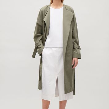 Unstructured coat with cuff straps - Sage Green - Coats & Jackets - COS US