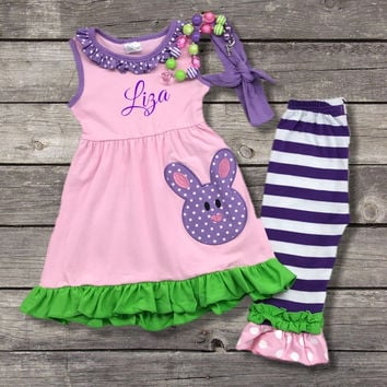 Purple Easter Bunny Outfit
