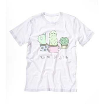 PLANTS ARE FRIENDS shirt Tshirt Tee Tumblr blanc unisexe fashion women pink white tee shirt tumblr graphic size S M L - 5sos one direction