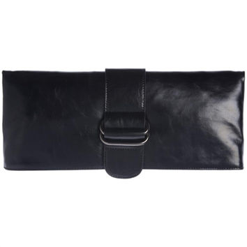 Shiraleah Harper Vegan Clutch Bold Black Color
