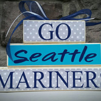 Custom College and Pro Sports Teams Seattle Mariner Fan Stacker