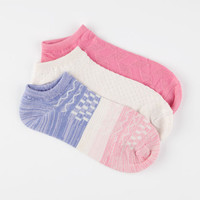 Full Tilt 3 Pairs Ombre Super Soft Womens No Show Socks Coral One Size For Women 26038231301