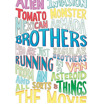 Rick and Morty Two Brothers Handlettered Quote by pidesignprints