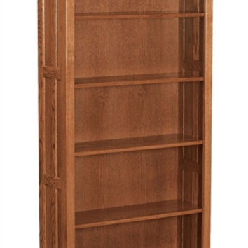 Amish Mission 6' OPEN BOOKCASE AM 196