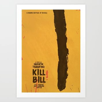 Kill Bill, Tarantino Movie Poster, Alternative, Minimal, Fine Art, Uma Thurman Art Print by Stefanoreves