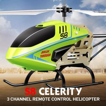 SYMA S8 Original RC Helicopter Celerity 3-Channel RC Quadcopter with Remote Control Toys Gift for Kids Children