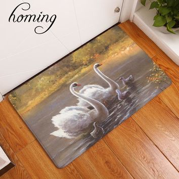 homing absorption light door welcome home mats cozy elegant swan family carpets hallway home decor crafts for bedroom kitchen