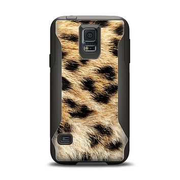 The Real Cheetah Animal Print Samsung Galaxy S5 Otterbox Commuter Case Skin Set