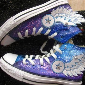 DCKL9 Hand painted shoes converse galaxy, Flying wings (2 version)