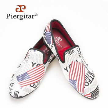 Piergitar new arrive summer wear Hand Painted men shoes Fashion Euro style loafers