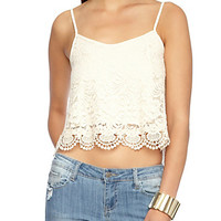 Lace Cami with Crochet Hem